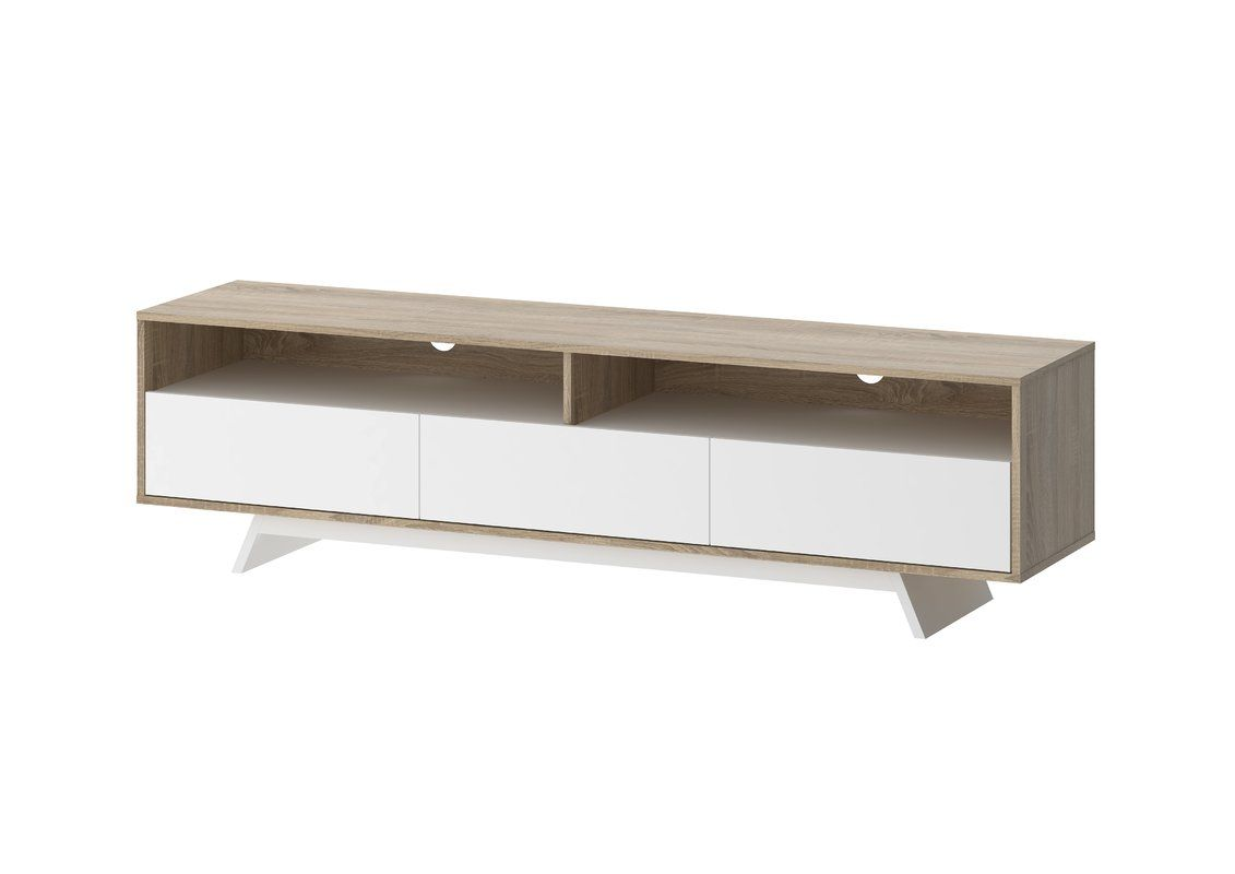 Rafael Tv Stand For Tvs Up To 75 Inches White Drawers