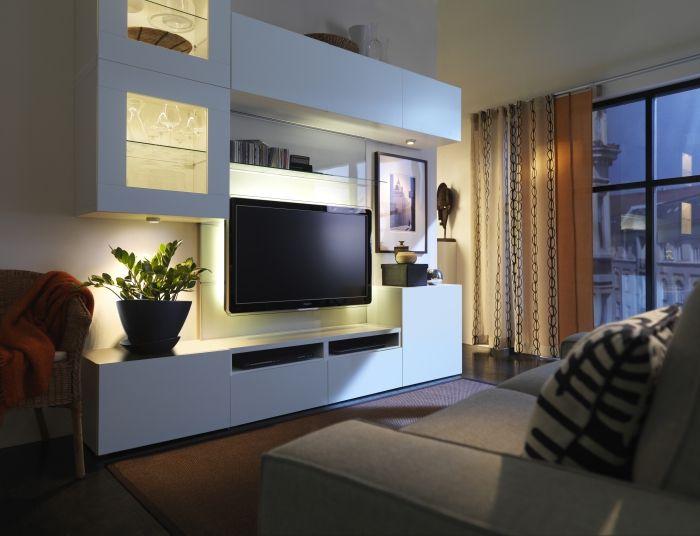 Besta Storage Solution Meuble Ikea Salon Meuble Salon Mobilier De Salon