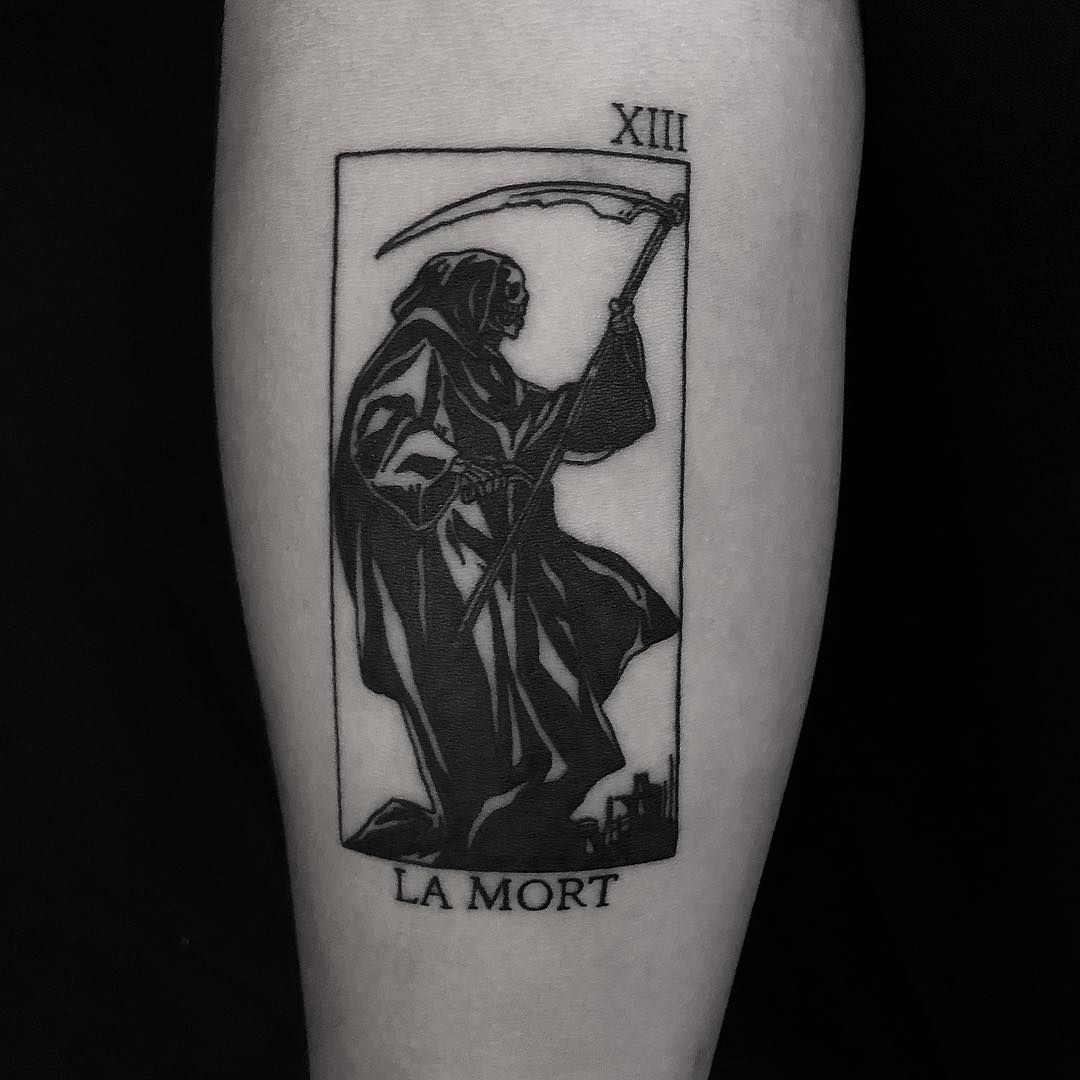 Grim Reaper Done At Bk Ink Studio Reaper Tattoo Dark Art Tattoo
