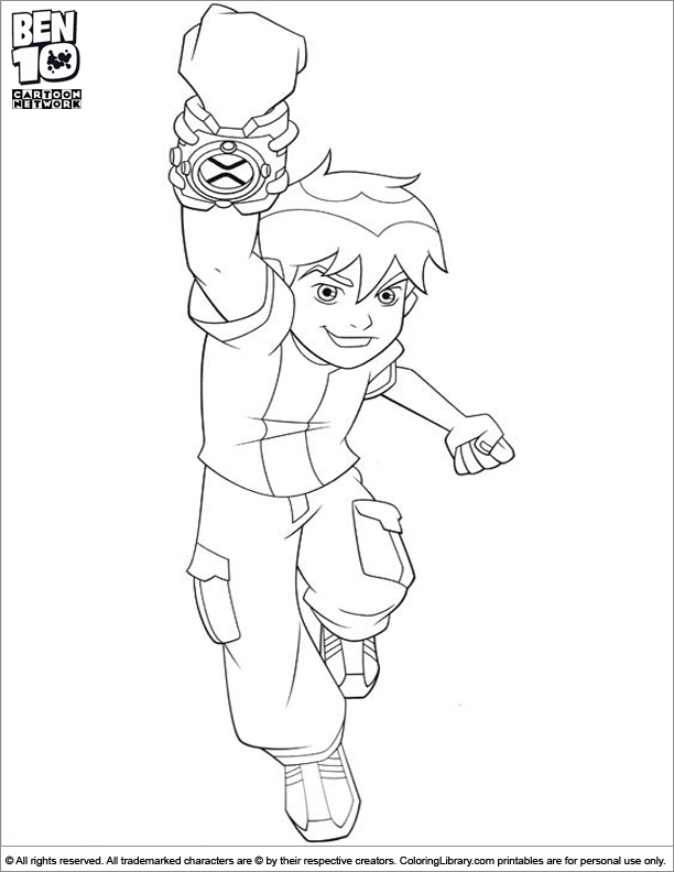 Ben 10 Coloring Page Ben Is Jumping With Joy Cute Coloring Pages Coloring Pages Ben 10