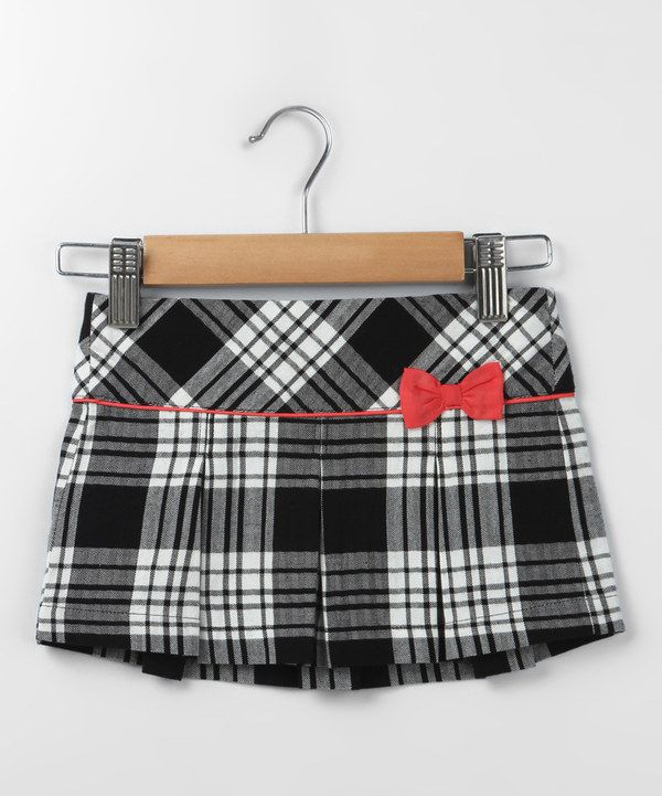 f7fe28b1a5 Look at this Beebay Black | Baby girl clothes | Plaid pleated skirt ...