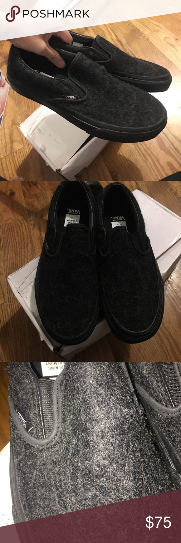 9140a09fce6e3d Opening Ceremony X Vans Classic Slip ons Wool New in box! Classic vans slip  ons. Vans for opening ceremony. Wool exterior. Damage to box.