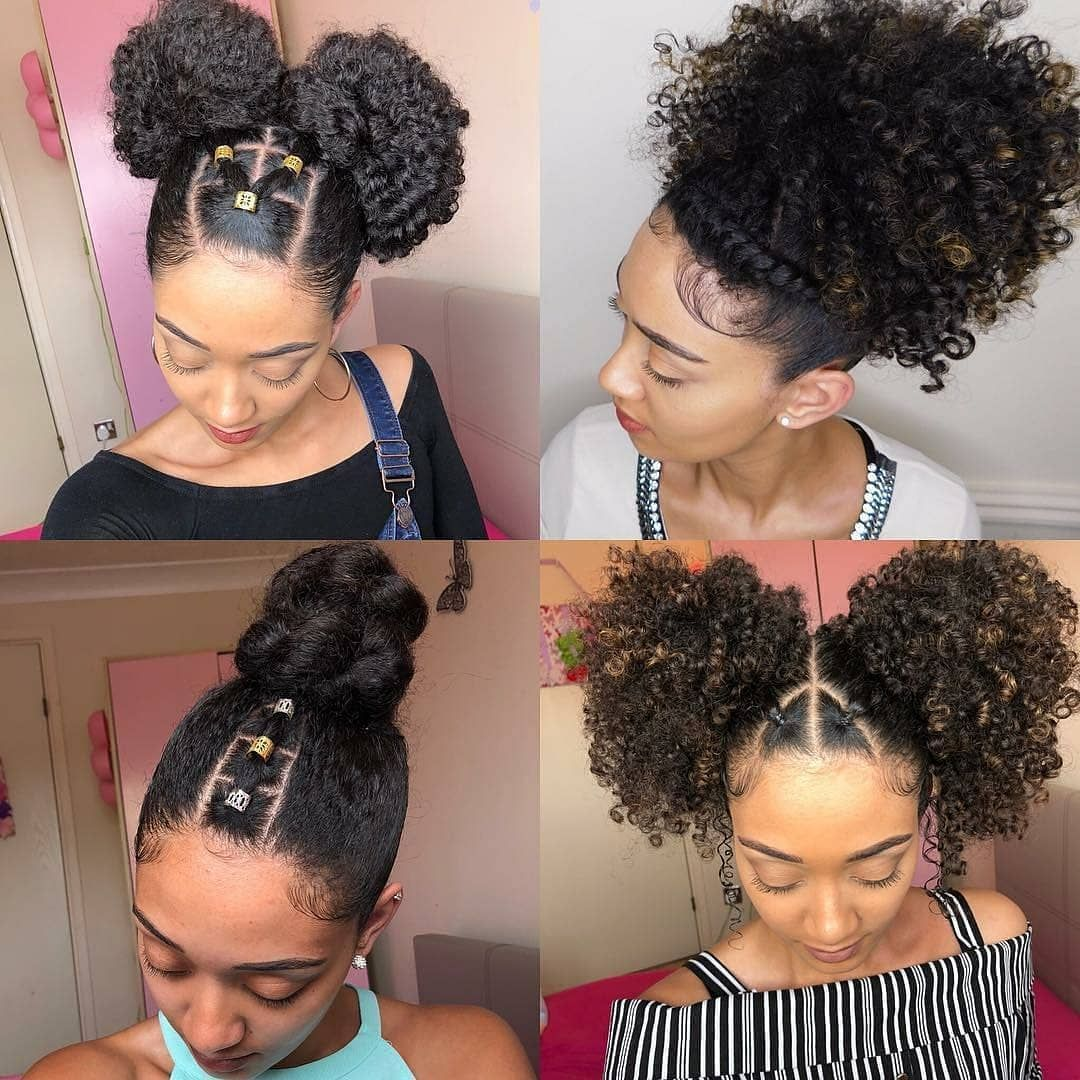 Easy Natural Hairstyles For Short Hair Natural Hair And