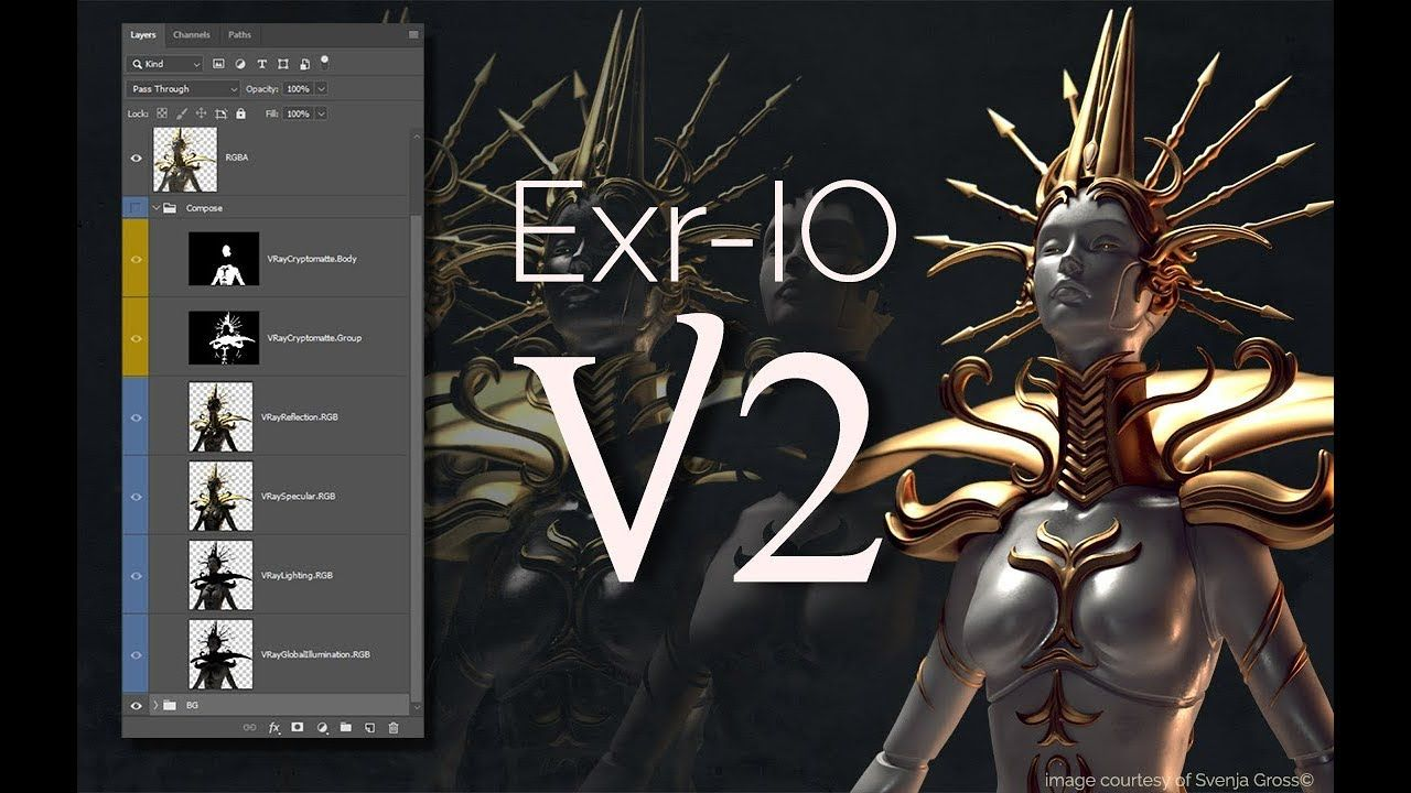 Exr Io V2 Featurette Cryptomatte Support In Photoshop Photoshop Photoshop Youtube Supportive