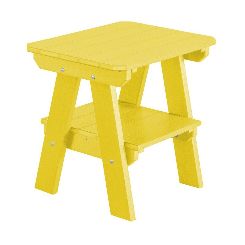 Little Cottage Company Heritage 2 Tier End Table, Bright Yellow, Lemon  Yellow, Pantone