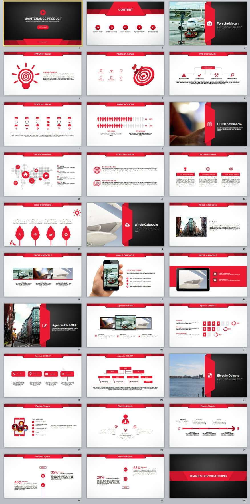 30 red maintenance product powerpoint templates 2018 annual 30 red maintenance product powerpoint templates alramifo Choice Image