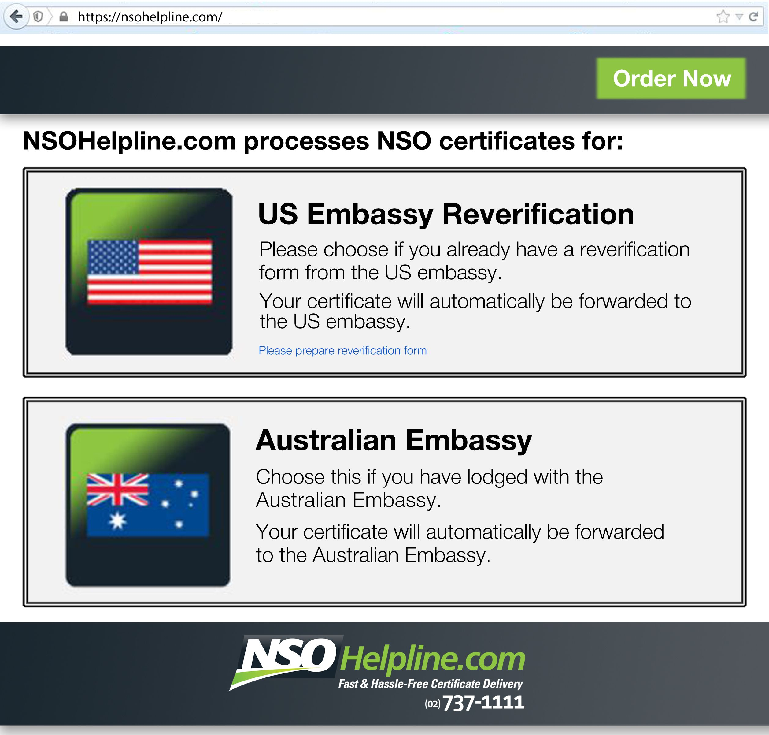 Did you know that www NSOHelpline com also processes US embassy and