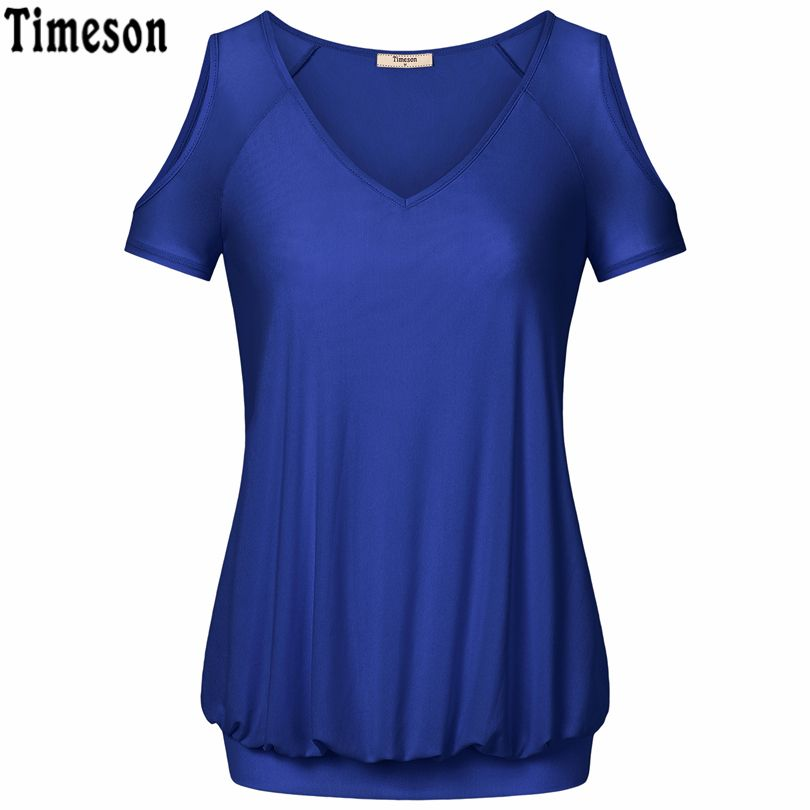 1ff403a74e4 Timeson Women Blouses 2017 Ladies Summer Sexy Off Shoulder Office Short  Sleeve Blouse Casual Shirt Tops