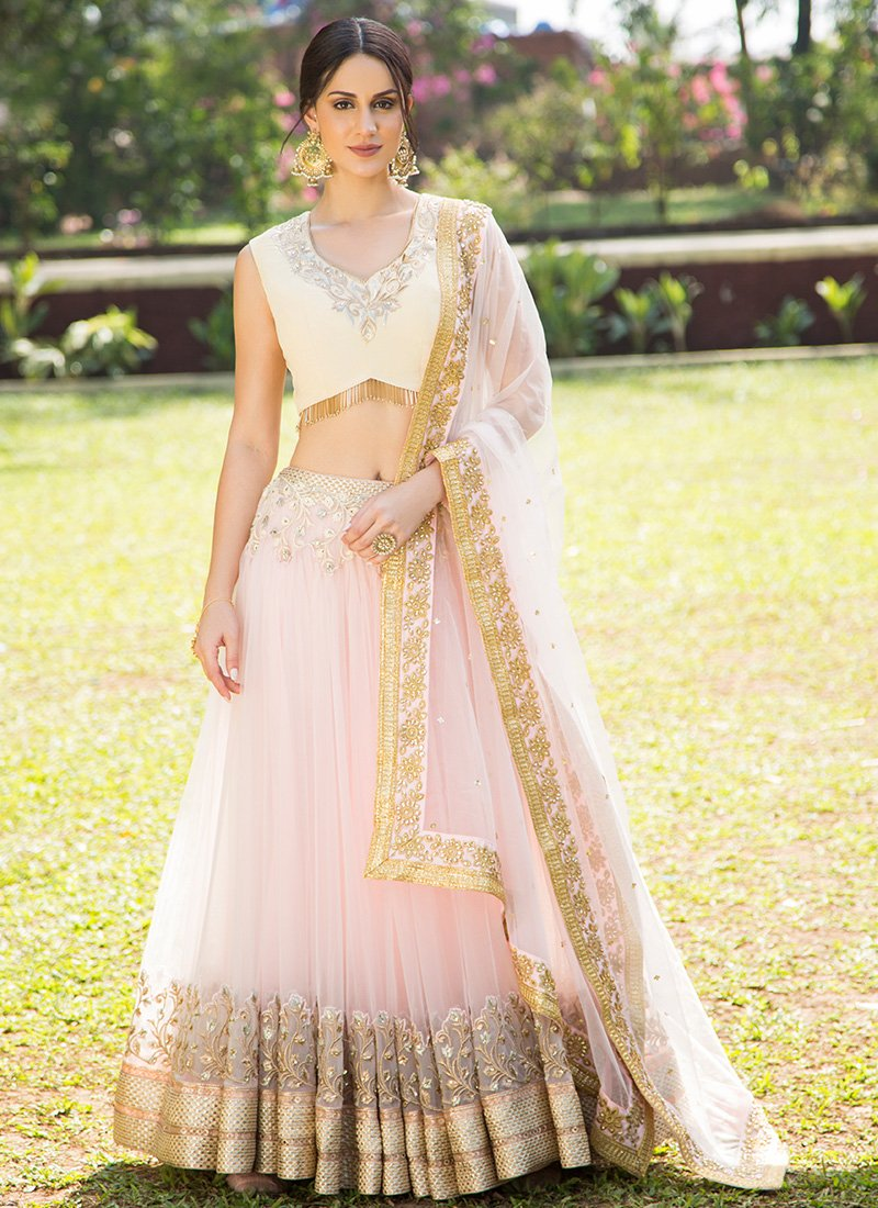 lehenga with light embroidery