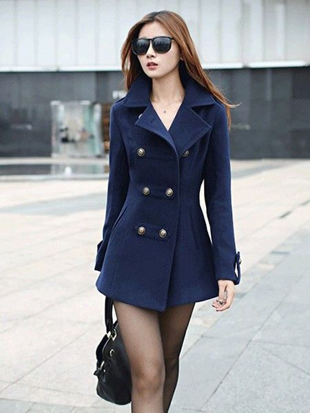 4dba710ac289 A Woman's Guide to Double-breasted Jackets   qq   Winter coats women ...
