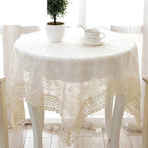 Lace Pastoral Tablecloth Embroidered Lace Tablecloths Table Cloth