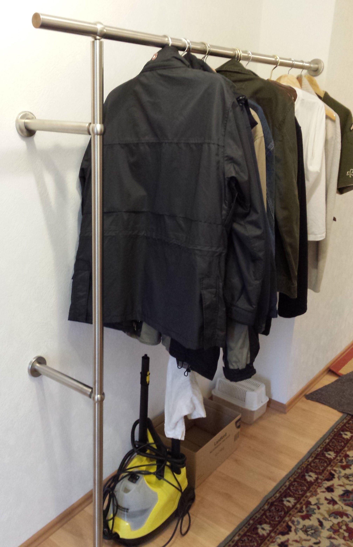 Edelstahl Kleiderstangen Nach Mass Kleiderstange Garderobe