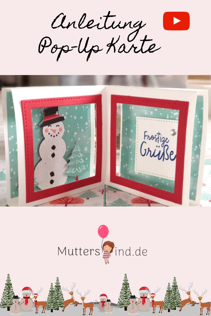 Pop Up Karte Stampin Up Hurra Es Schneit Weihnachtskarten Adventkalender Karten