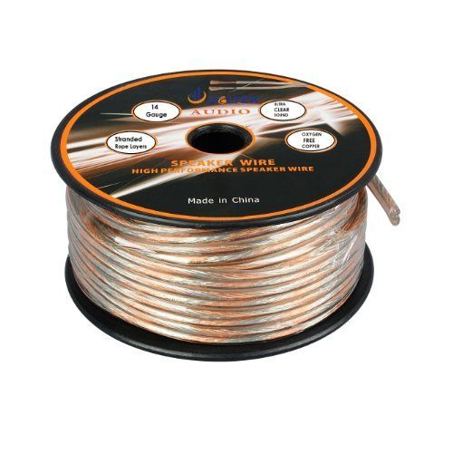 Aurum Cables 14 Gauge Transparent Pvc Speaker Wire W Ft Markings Every 5 Ft 150 Feet By Aurum 19 99 150 Foot 14 Guage Speaker Wire Conn Elektrik