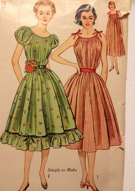 ceb651c9c98 Vintage Simplicity dress pattern vintage 3893 Bust 31 Rockabilly ...