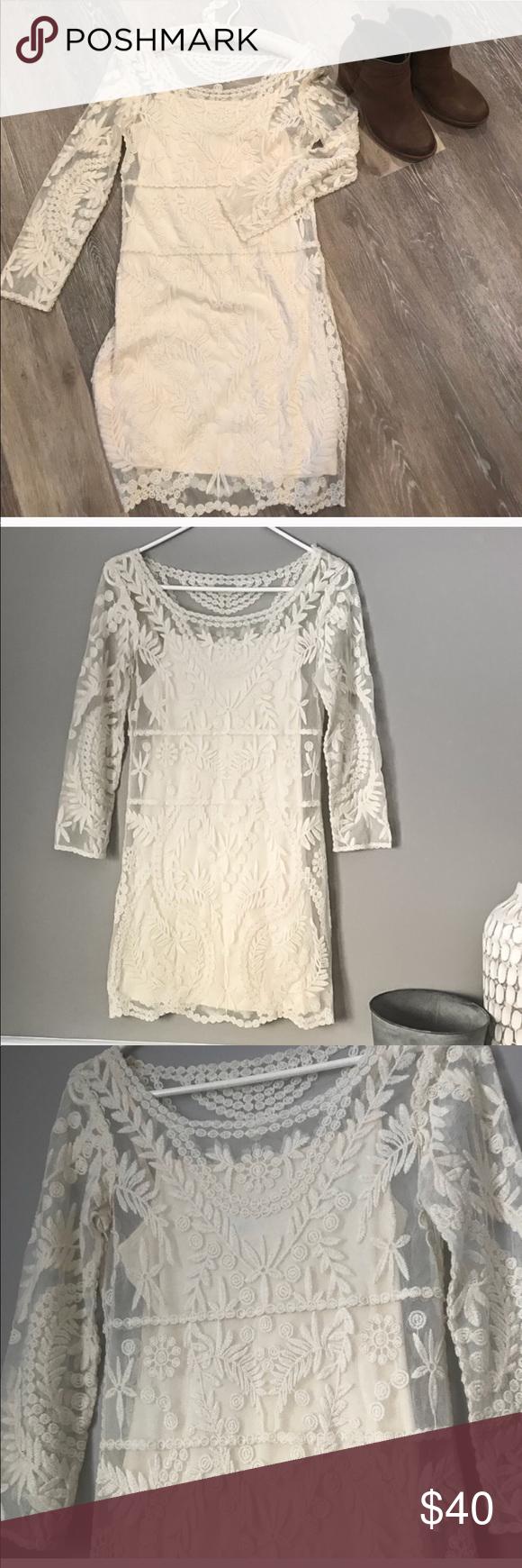 Express lace dress Express lace overlay dress. Dress has