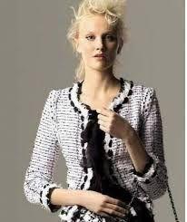 Risultati immagini per white black crochet chanel
