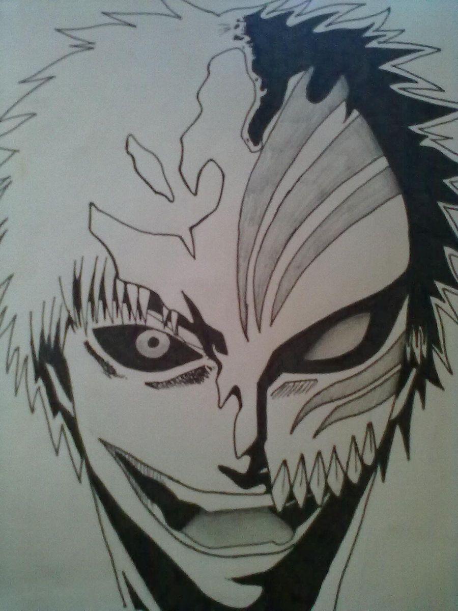 easy bleach drawings | bleach ichigo hollow mask by cihiro97 ...