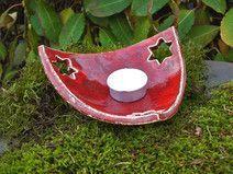 Kerzenteller Weihnachten Advent Keramik - Salzteig Rezepte #vaseideen