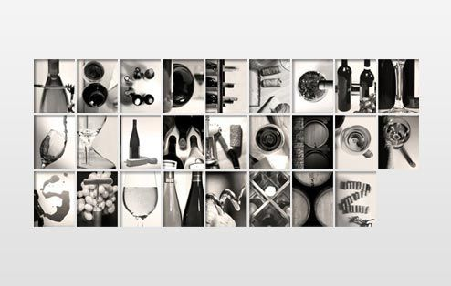 Letter Made Out Of Objects.Spell Name On Big Canvases Across Top Of Tall Wall With Letters