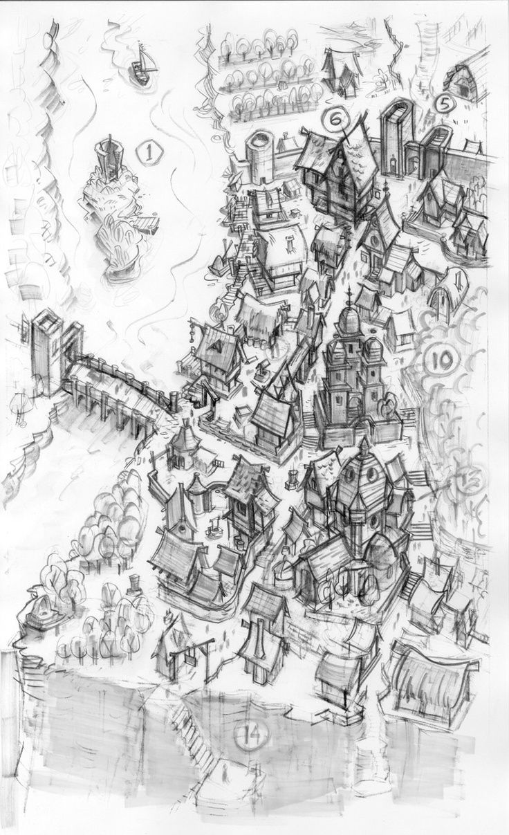 Sketch Of A Hand Drawn Regional Map Fantasy Map Making Fantasy Map Perspective Maps
