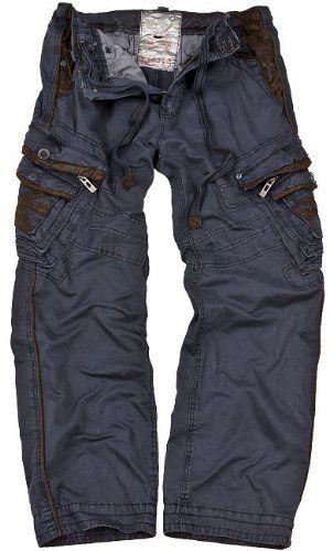 JET LAG cargo trousers Marcello navy: Amazon.co.uk: Clothing