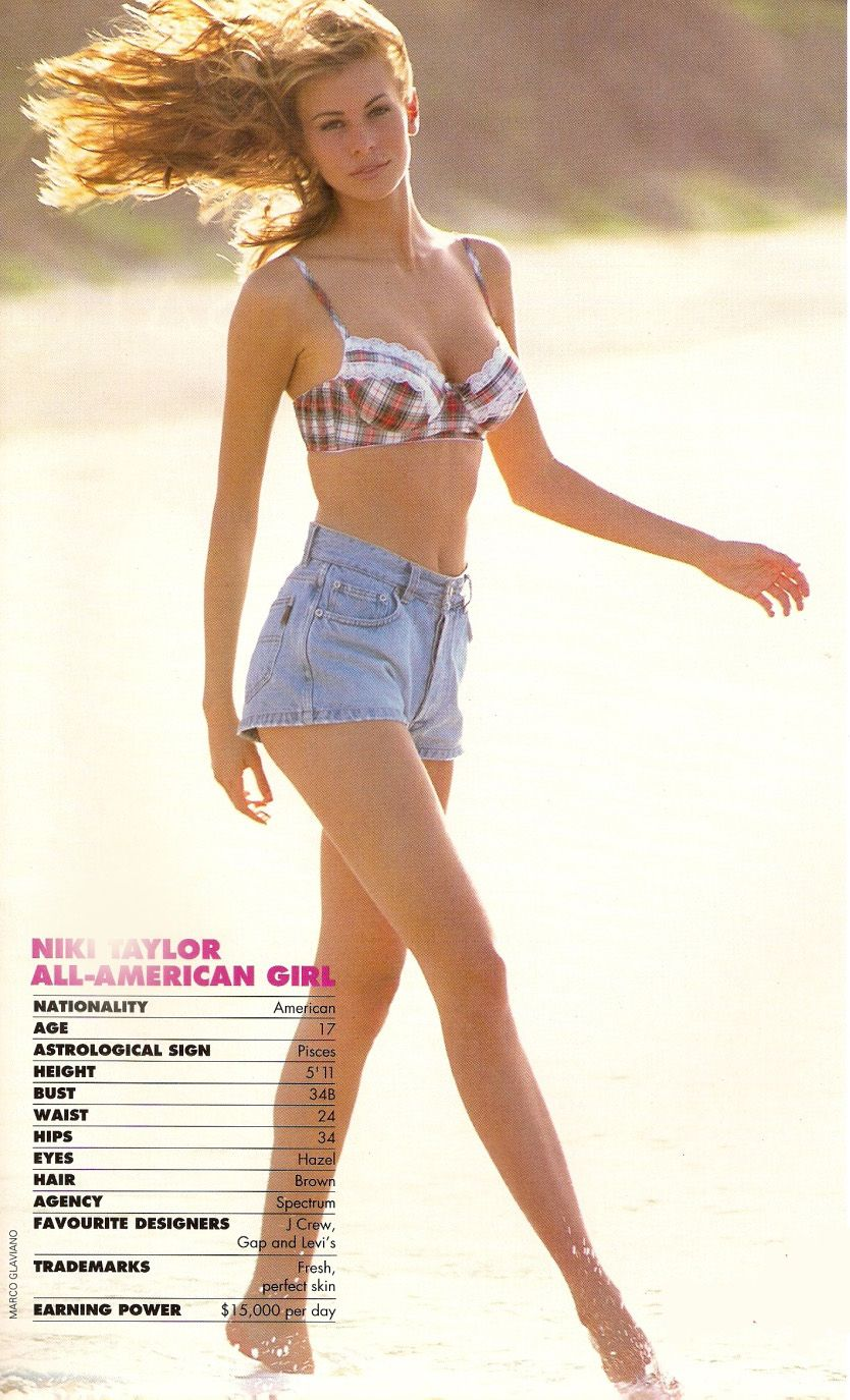 Niki Taylor 1992. Love the high waist.