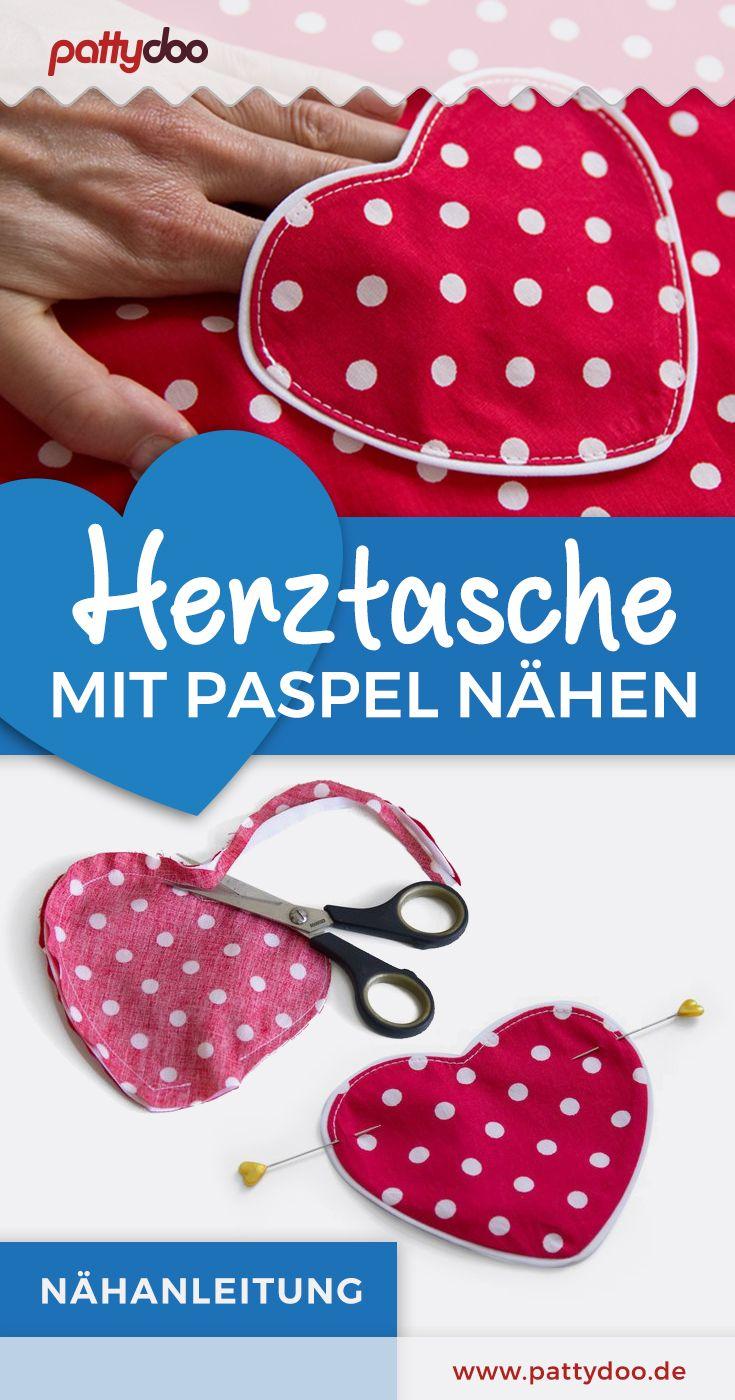 Photo of Kostenlose Nähanleitung: Herztasche mit Paspel nähen