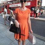 FASHION156 Daily Blog / Melissa Afonso Blog Take Over – London Street Style #orange #black #flats