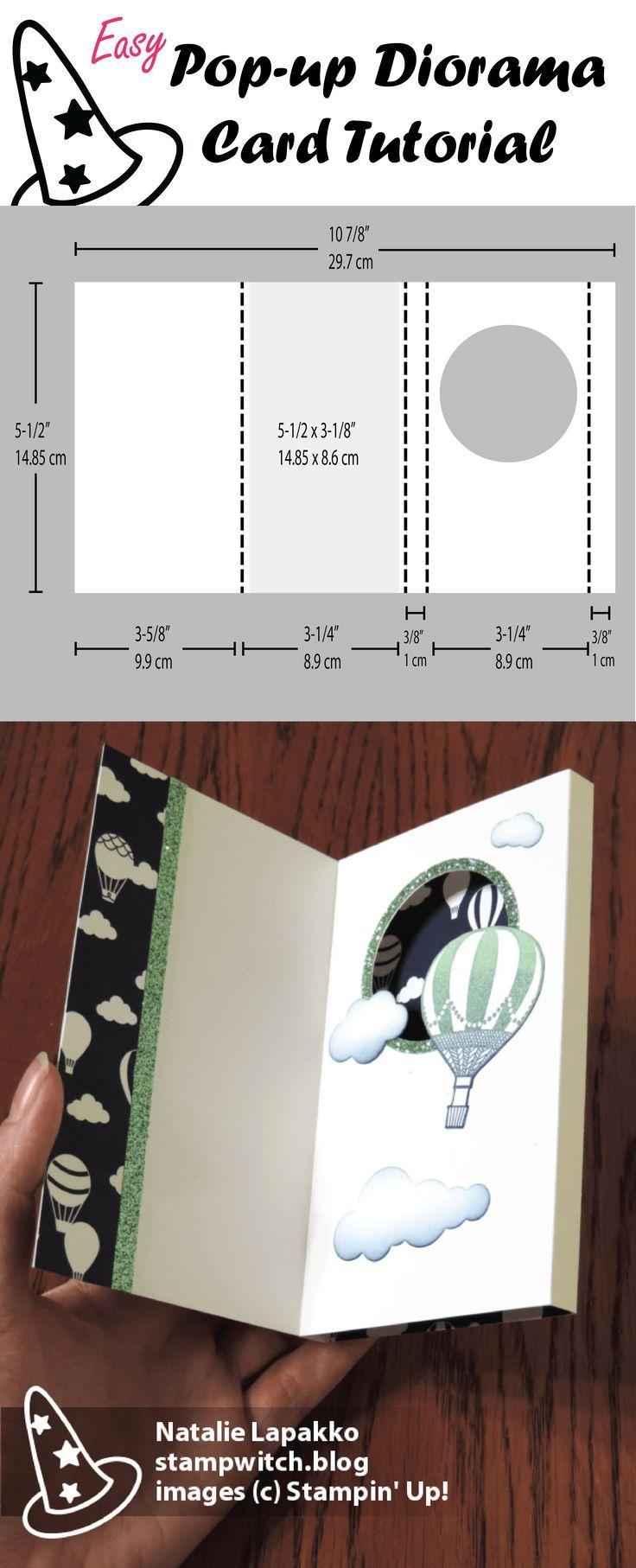 Pop-up Diorama Tutorial | Card tutorials, Dioramas and Tutorials