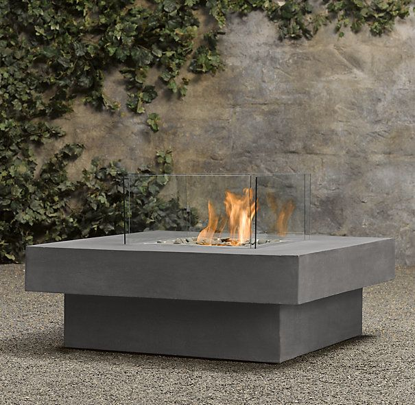 Beautiful Laguna Concrete Natural Gas Fire Table   Square *We Could Add A Fire Pit Or