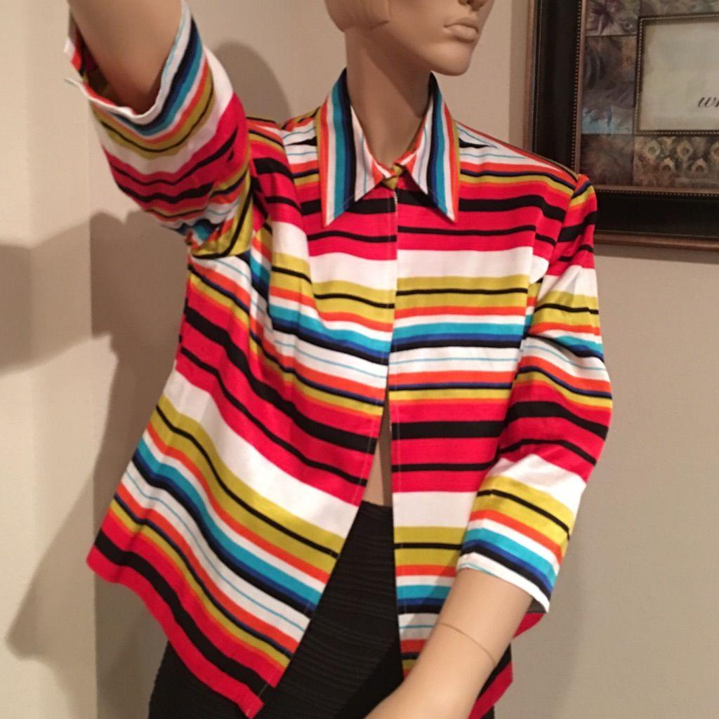 Waist Line Multi Color Jacket ..