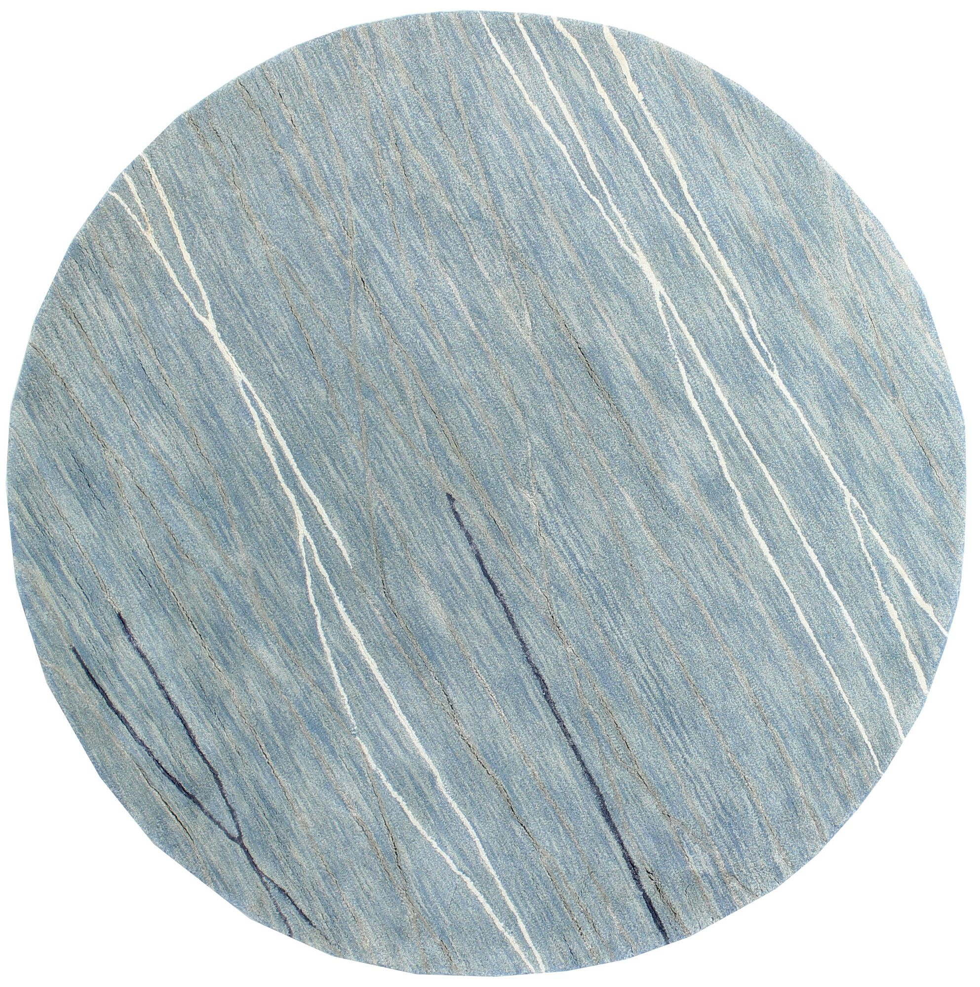 Luczak Hand-Tufted Light Blue Area Rug