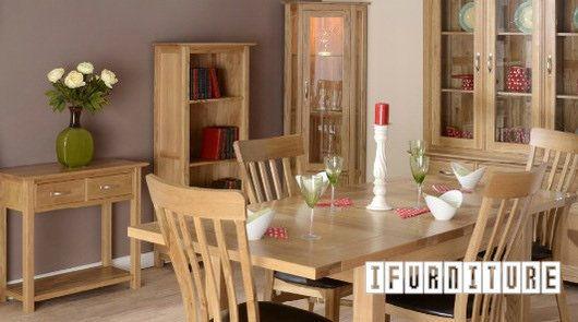 Newland Solid Oak Furniture 100 Solid Oak Oak Dining Chairs Oak Furniture Living Room Modern Oak Dining Room