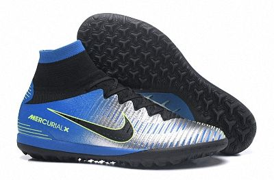 42610c5fda8 Fashion 2018 Men Nike Mercurial Superfly V SX Neymar TF Word Cup Blue  Silver Black