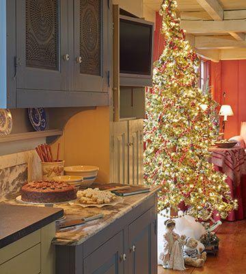 karen decorates her kitchen for christmas updated kitchen designs country farmhouse decor on farmhouse kitchen xmas id=98903