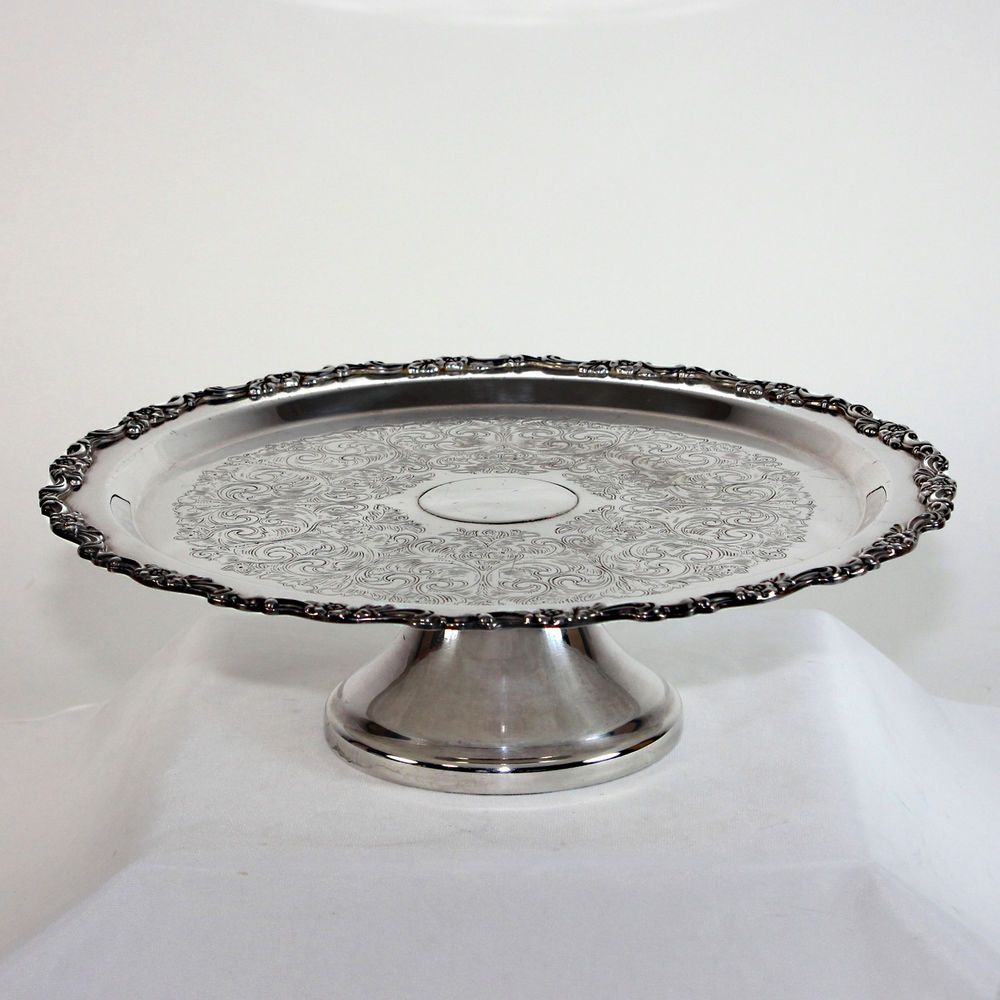 Vintage Silver Plate Cake Stand Plate 95 00 Silver Plated