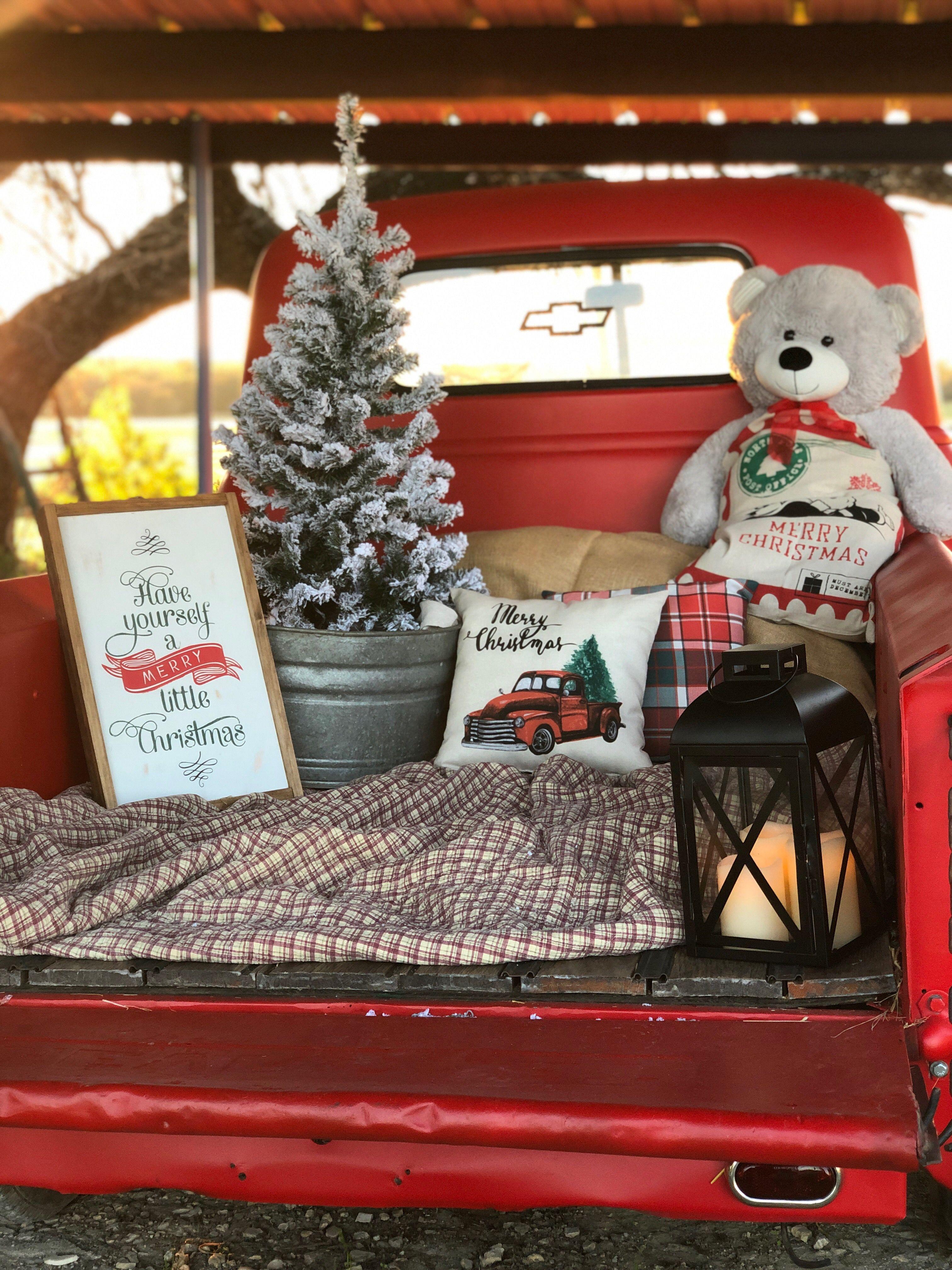Christmas Digital Antique Truck Digital Backdrop Set of Two Christmas Truck Digital Backgrounds Christmas Truck Antique Christmas Truck
