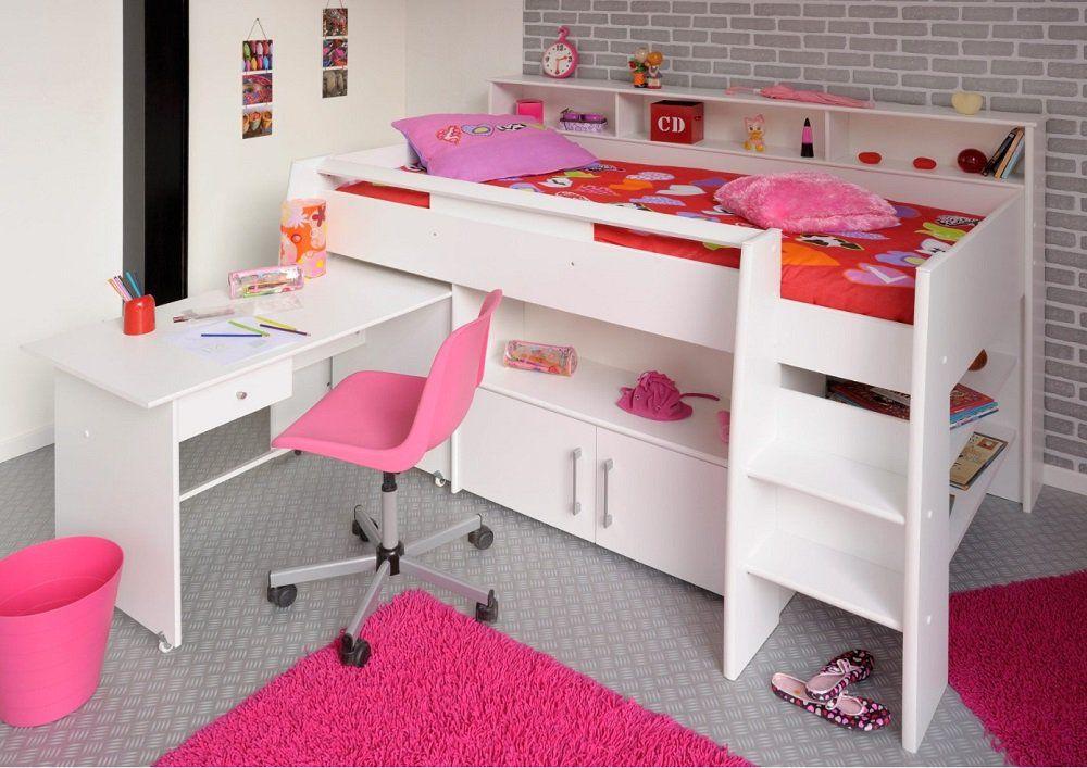 Soldes Lit Enfant But Lit Combine Swan 90x200 Cm Blanc Iziva Com Lits Mezzanine Lit Enfant Lit Enfant But