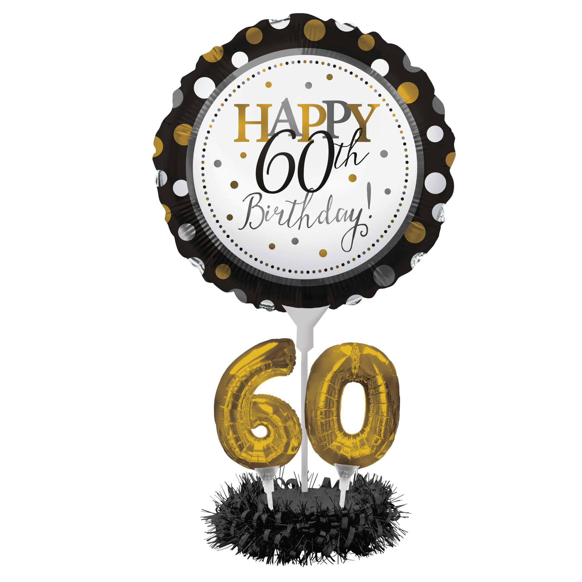 Air Filled Balloon 60th Birthday Centerpiece Kit 50th