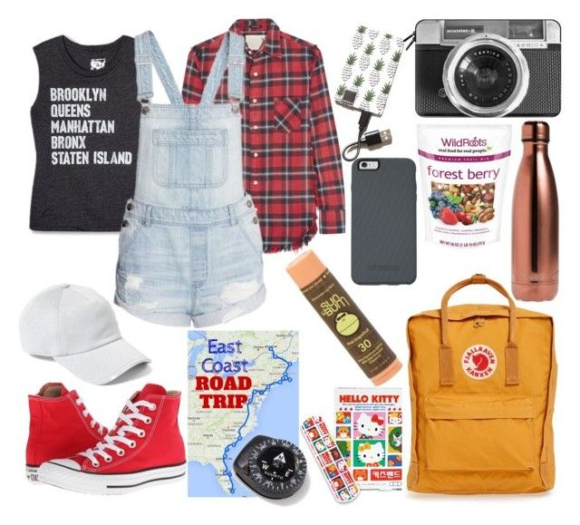 """adventure awaits"" by queencakepop on Polyvore featuring Converse, rag & bone, Casetify, Hello Kitty, Todd Snyder, R13, Fjällräven, S'well, Suunto and Triple C Designs"