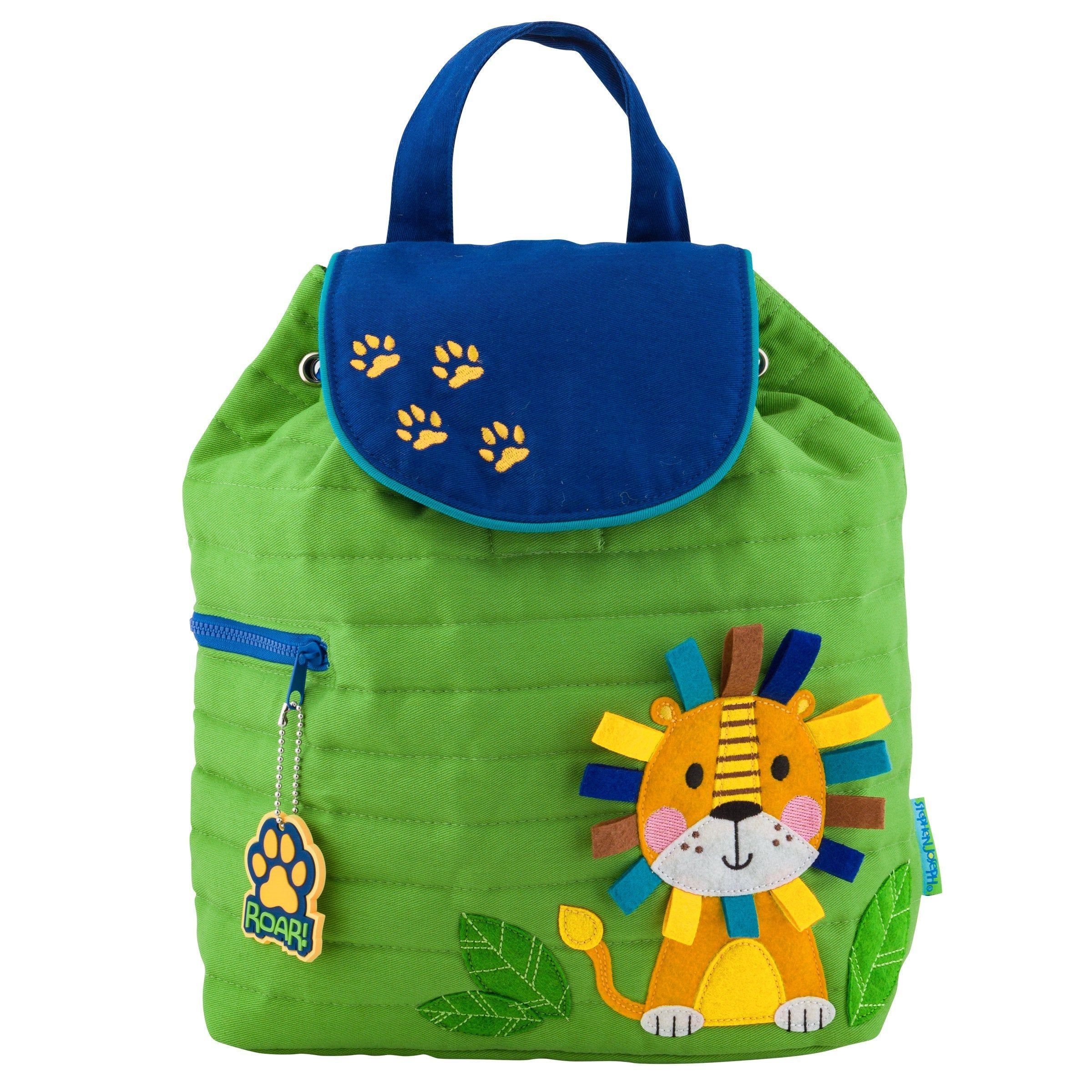 54a73ad2f446 Personalize Quilted Boy Tiger Backpack, Stephen Joseph Boy Tiger ...