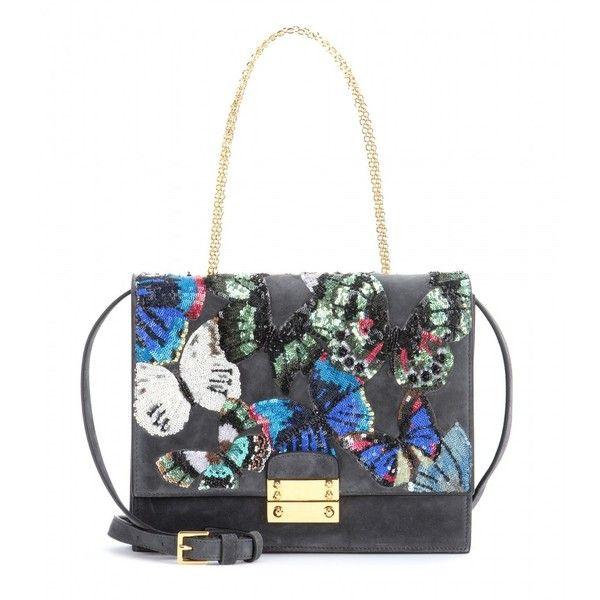 Valentino Close Up Sequin Embellished Suede Shoulder Bag 6 210 Brl Liked On Polyvore Featuring Bags Handbags Shoulder Ba Shoulder Bag Bags Valentino Bags