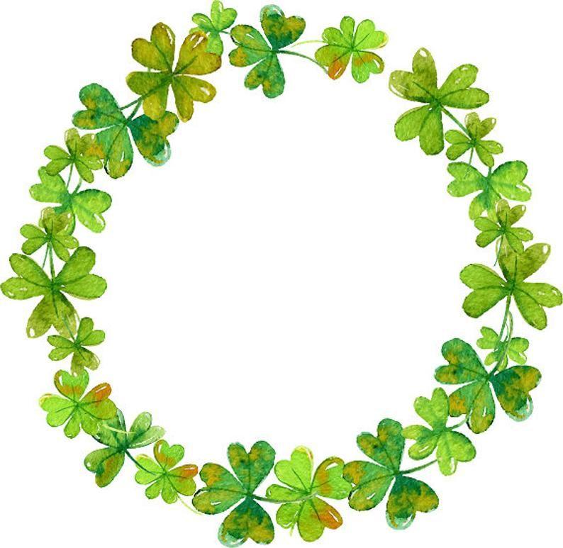Clover Clipart Shamrock Wreath Clover Wreath Minimalis Wreath St Patrick S Day Clipart Watercolor Clipart Greenery Clipart Clover Clipart Shamrock Art Clover Wreath