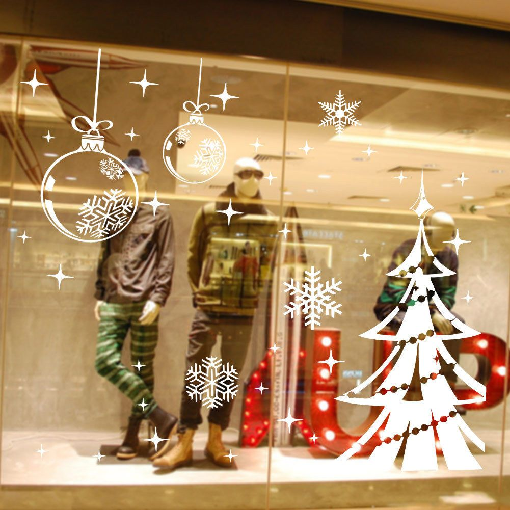 Art White Snowflake Christmas Tree Vinyl Wall Sticker Decals Window ...