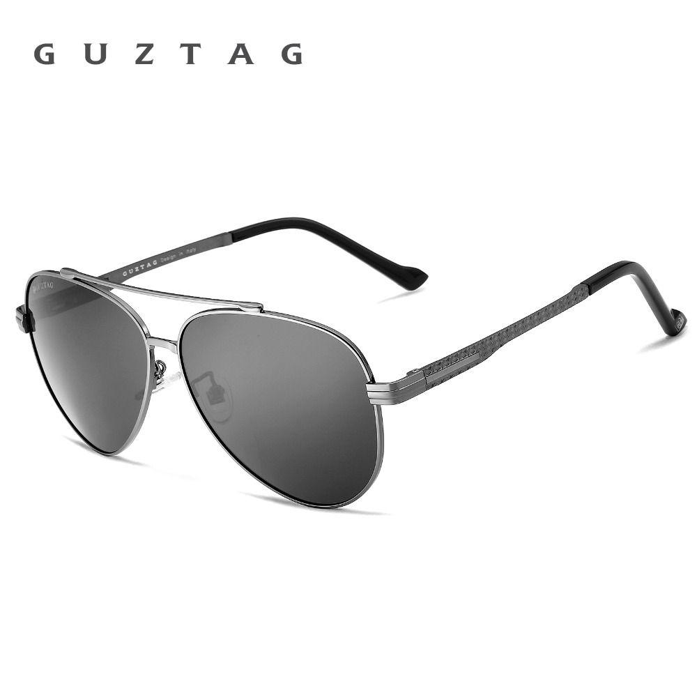 cbc56eff78 Find More Sunglasses Information about GUZTAG Fashion Classic Brand Polarized  Sunglasses Men s Designer HD UV400 Goggle Eyewear Sun glasses For Men G8009  ...
