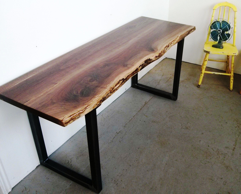 live edge solid black walnut desk available at. Black Bedroom Furniture Sets. Home Design Ideas