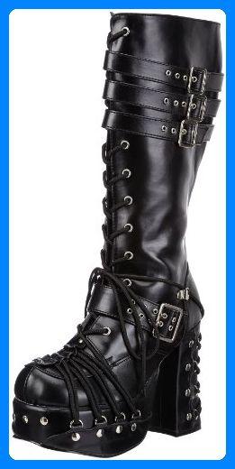 Demonia CHARADE-206 Damen Stiefel, Schwarz (Blk Vegan Leather), EU 37 (UK 4) (US 7)