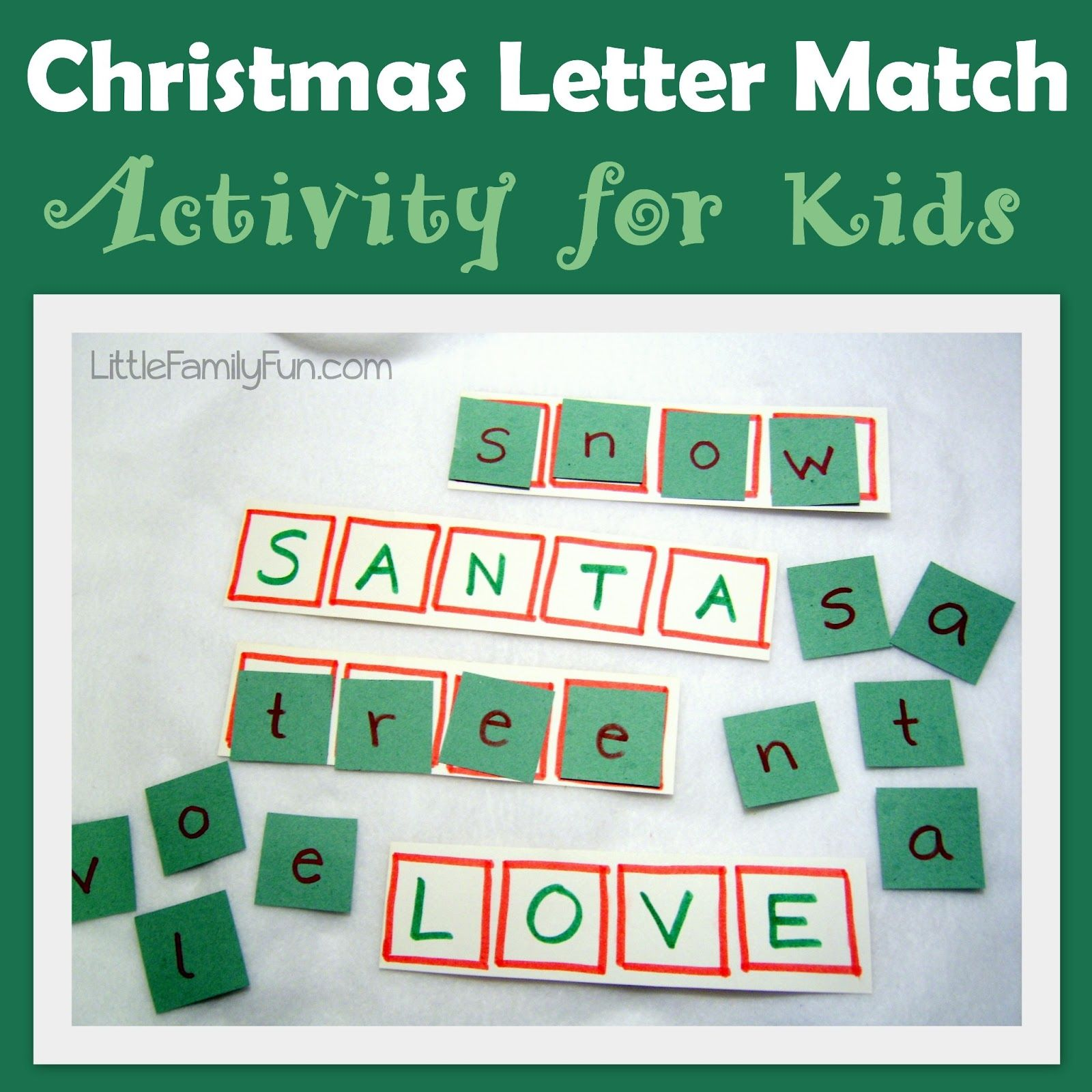 Little Family Fun Christmas Words Activity Christmas