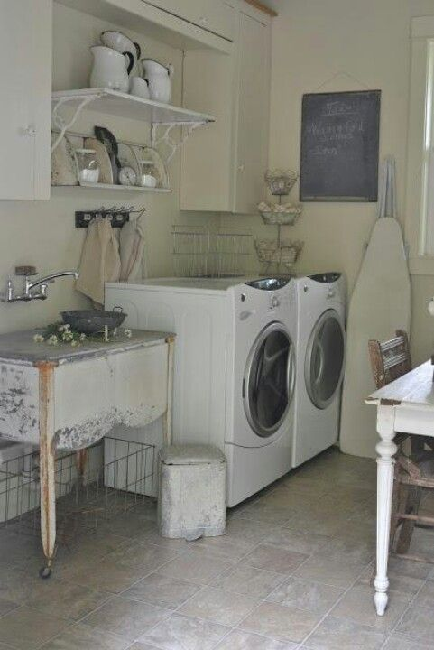 Laundry Room Ideas Old Wash Tub For The Sink Cool Laundry Room